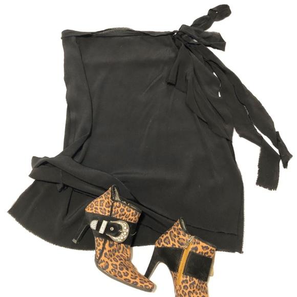 Maggie Walt Dresses & Skirts - Maggie Walt black waterfall side tie skirt